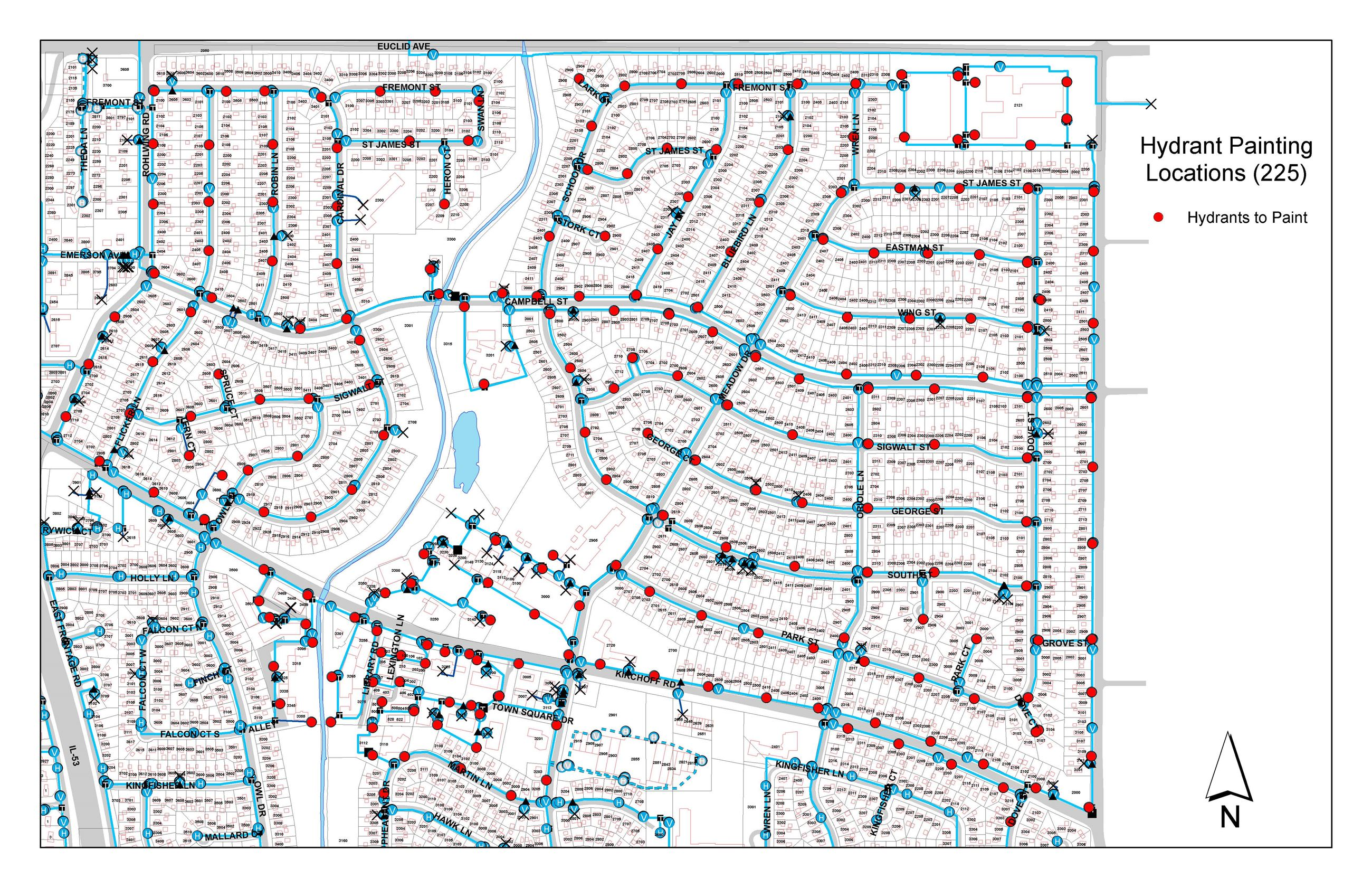 Hydrant Painting Map