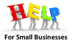 HELP for Small Businesses Clip Art
